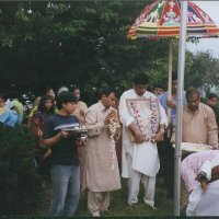 Pooja during proceesion